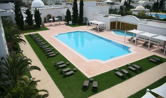 Hotel vincci flora park 4 nl sejour tunisie avec voyages for Piscine demontable tunisie